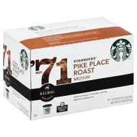 Starbucks Coffee K-Cup Medium Roast Pike Place