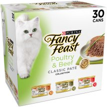 Purina Fancy Feast Classic Poultry & Beef Collection Cat Food 30-3 oz. Cans