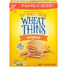 Wheat Thins Whole Grain Snack Crackers, Original, 16 Oz