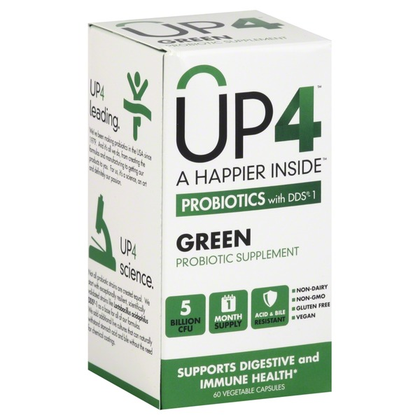 UP4 Probiotics with DDS-1 Green Vegetable Capsules