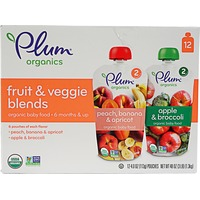 Plum Organics Fruit & Veggie Baby Food Pouches