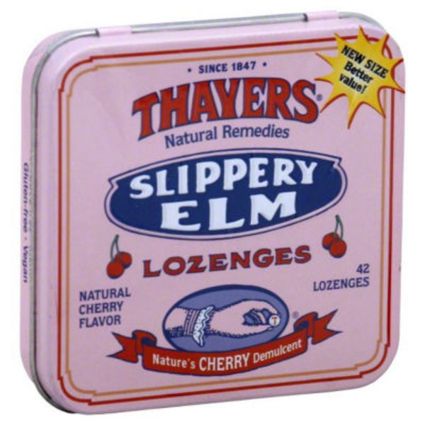Thayers Slippery Elm Cherry Lozenges