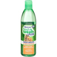 Tropiclean Fresh Breath Plus Skin & Coat Oral Care Water Additive For Pets
