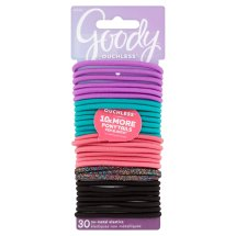 Goody Ouchless No-Metal Elastics, 30 count
