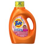 Tide Plus Downy April Fresh Scent Liquid Laundry Detergent, 92 oz, 59 loads