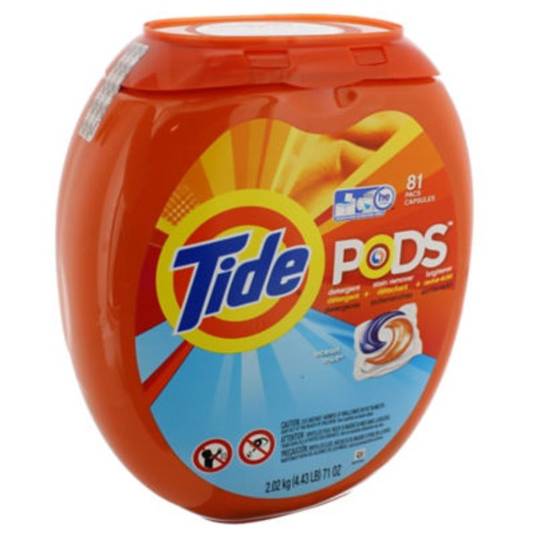 Tide PODS Laundry Detergent, Ocean Mist, 81 count, Designed for Regular and HE Washers Laundry