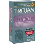 Trojan Sensitivity Ultra Thin With Spermacide Lubricated Latex Condoms - 12 ct