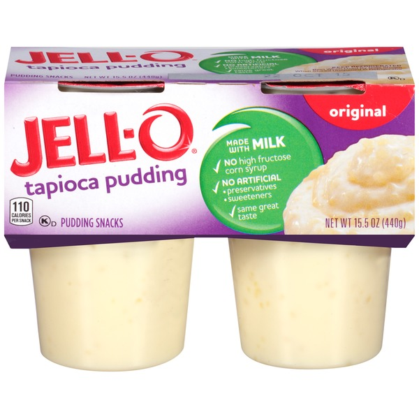 Jell O Ready To Eat Original Tapioca Pudding Snacks