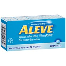 Aleve Tablet, Pain Reliever/Fever Reducer, 100ct