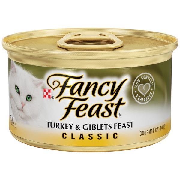 Fancy Feast Wet Classic Turkey & Giblets Feast Cat Food