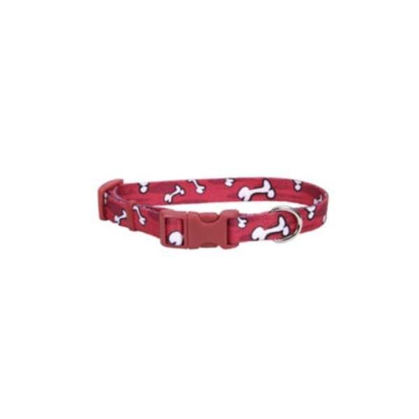 Alliance Red Bones Dog Collar 5/8