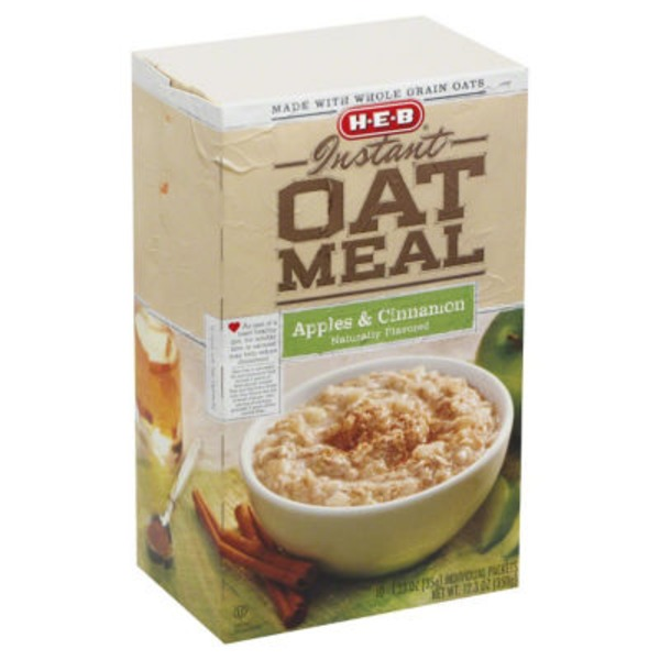 H-E-B Apple And Cinnamon Instant Oatmeal