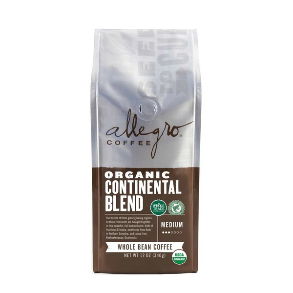 Allegro Coffee Organic Continental Blend Whole Bean Coffee