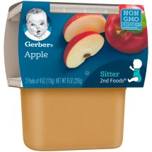 Gerber 2nd Foods Apples, 4 Ounce Tubs, 2 Count