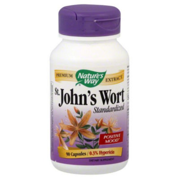 Nature's Way St. John's Wort Standardized 0.3% Hypericin Capsules - 90 CT