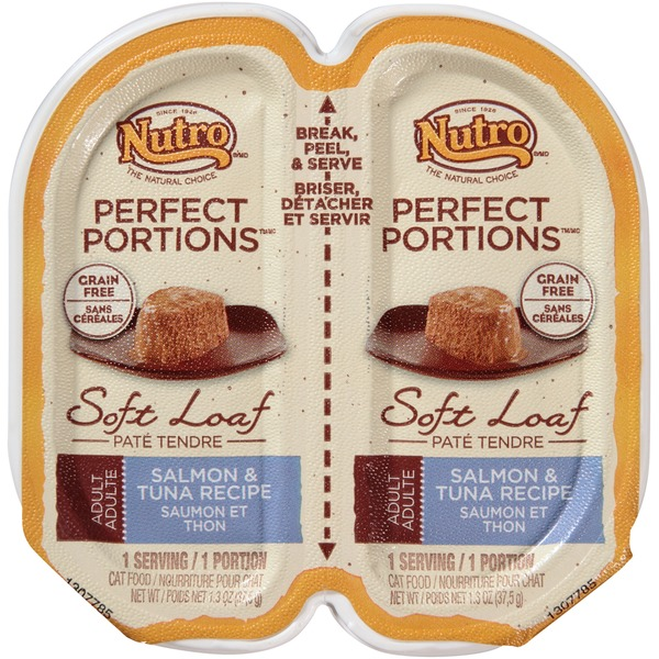 Nutro Perfect Portions Adult Soft Loaf Salmon & Tuna Recipe Cat Food
