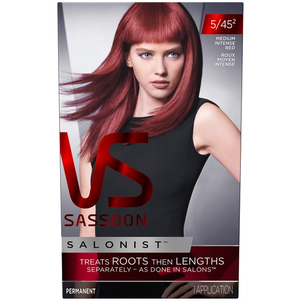 Vidal Sassoon Salonist Permanent 4/45 2 Medium Intense Red Female Hair Color