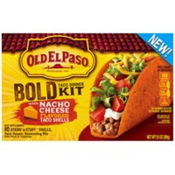 Old El Paso Stand 'n Stuff Bold Nacho Cheese Flavored Taco Dinner Kit