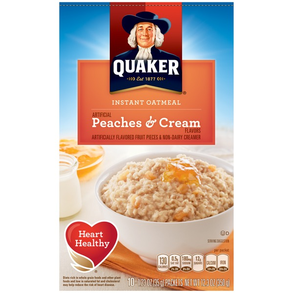 Quaker Oatmeal Peaches & Cream Instant Oatmeal