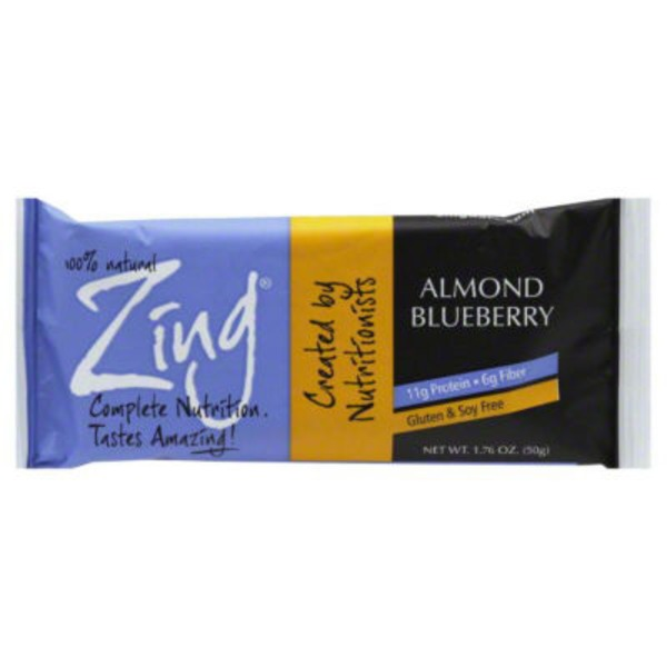 Zing Almond Blueberry Nutrition Bar