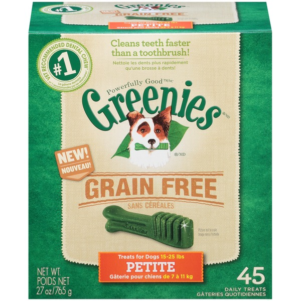 Greenies Grain-Free Petite Dental Dog Treats