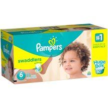 Pampers Swaddlers Diapers, Size 6, 80 Diapers