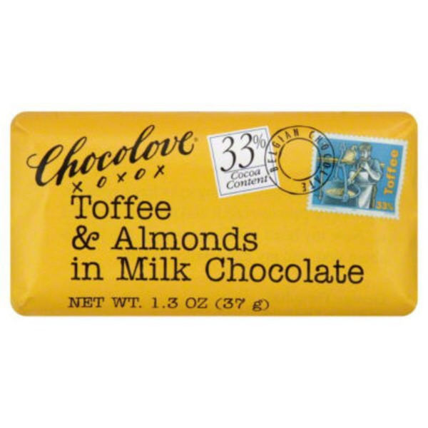 Chocolove Milk Chocolate, Toffee & Almonds