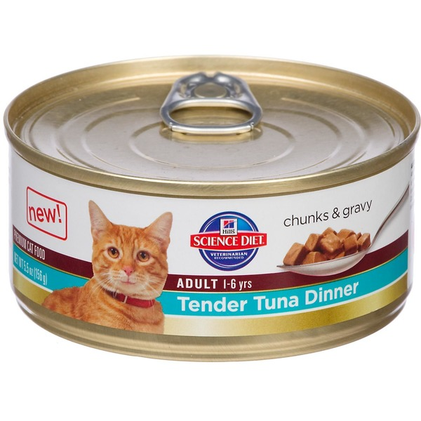Hill's Science Diet Premium Tender Tuna Dinner Adult Cat Food