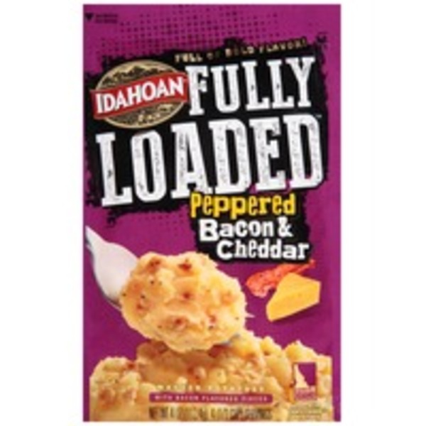 Idahoan Fully Loaded Peppered Bacon & Cheddar Mashed Potatoes