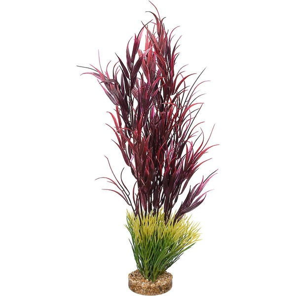 Petco Red Mountain Plant Plastic Aquarium Plant