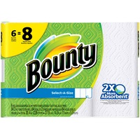 Bounty Basic Select-A-Size Paper Towels, Big Rolls White