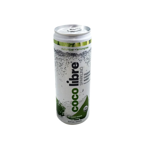 Coco Libre Organic Organic Sparkling Cucumber Lemon Coconut Water
