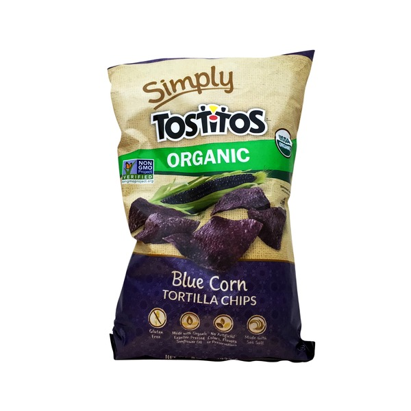 Tostitos Tostitos Simply Organic Tortilla Chips Blue Corn