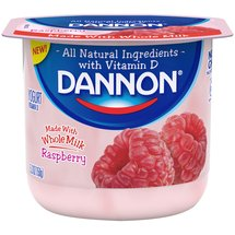 Dannon Raspberry Whole Milk Yogurt