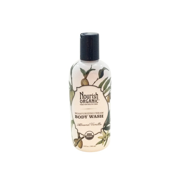 Nourish Organic Body Wash, Moisturizing Cream, Almond Vanilla