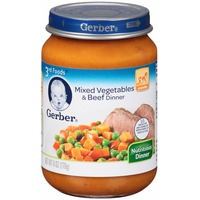 Gerber 3 Rd Foods Mixed Vegetables & Beef Purees Dinner