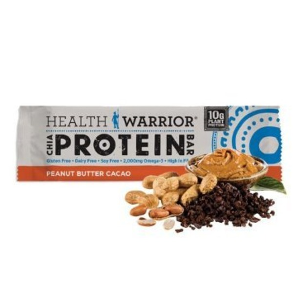 Health Warrior Superfood Protein Bar Peanut Butter Cacao - 12 CT