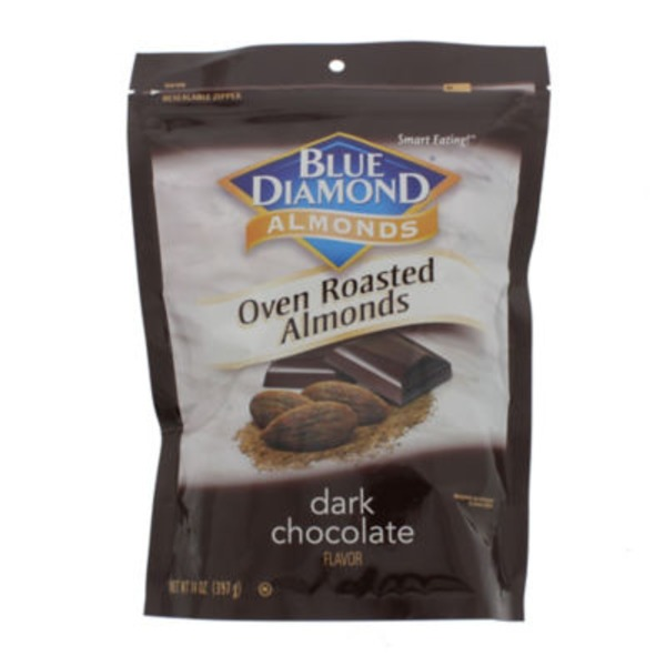 Blue Diamond Almonds Oven Roasted Dark Chocolate Flavor Almonds