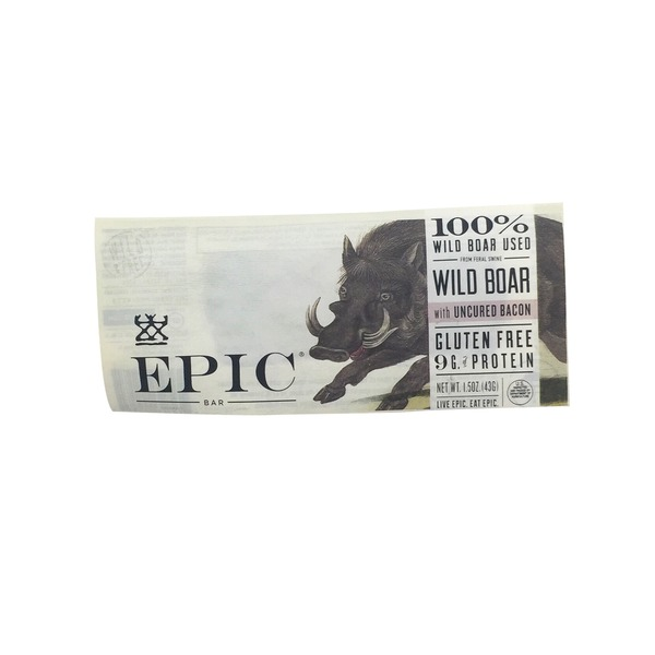 Epic Wild Boar Uncured Bar
