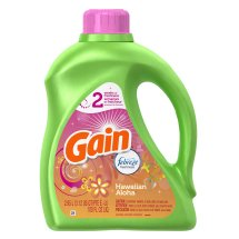 Gain Liquid Laundry Detergent, with Febreze Freshness, Hawaiian Aloha Scent, 48 loads, 100oz