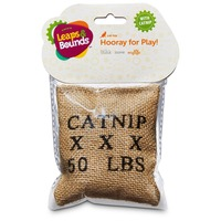 Leaps & Bounds Burlap Bag Catnip Cat Toy 4