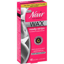 Nair Wax Ready-Strips Hair Remover for Legs & Body