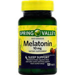 Spring Valley Strawberry Flavor Fast Dissolve Melatonin Dietary Supplement Tablets