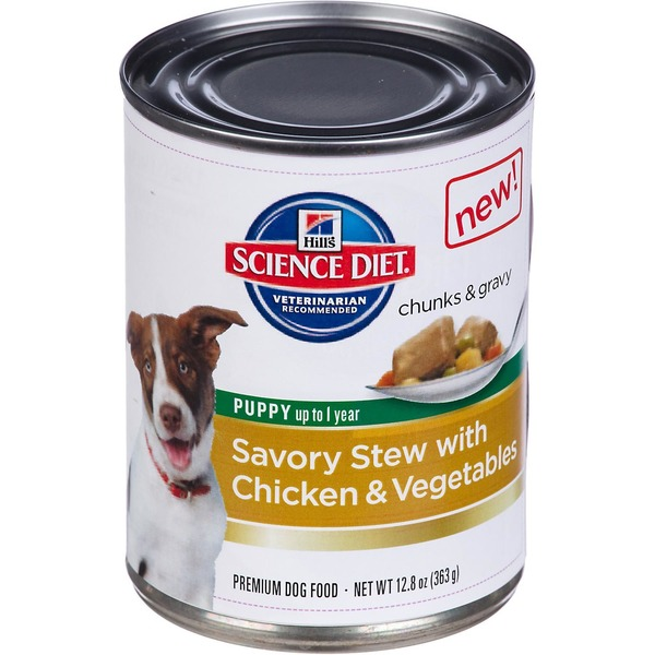 Hill's Science Diet Chunks & Gravy Puppy up to 1 Year Savory Stew With Chicken & Vegetables Premium Dog Food