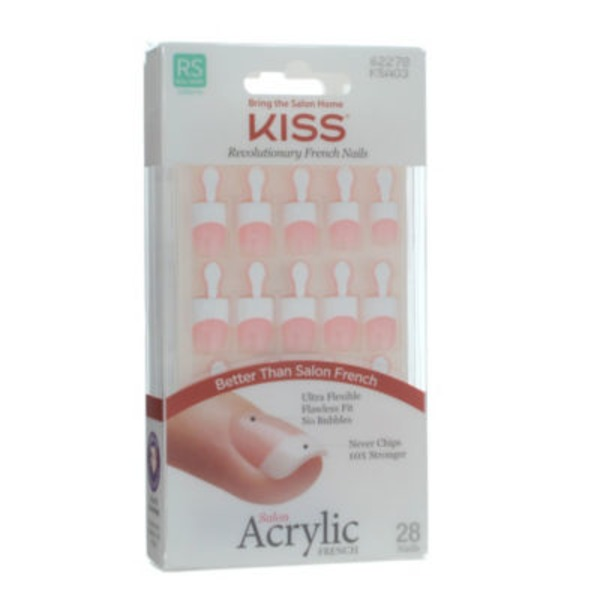 Kiss Revolutionary French Nails Acrylic Real Short Length - 28 CT