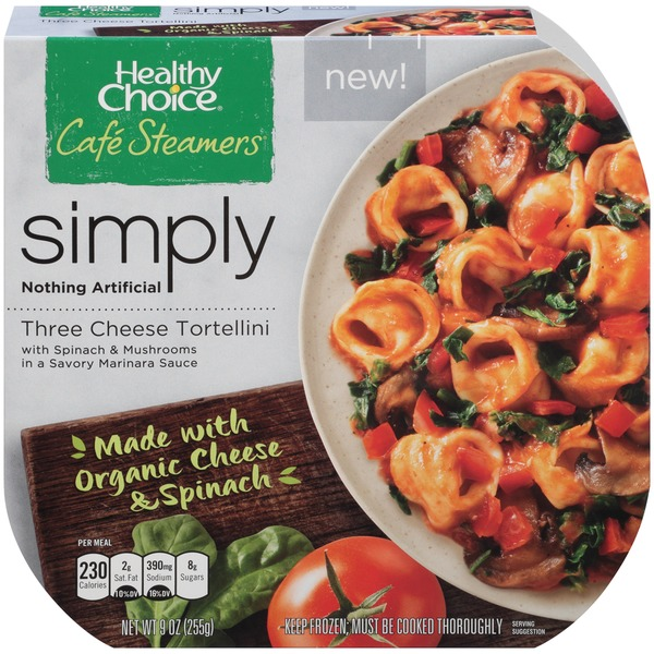 Healthy Choice Cafe Steamers Simply Three Cheese Tortellini