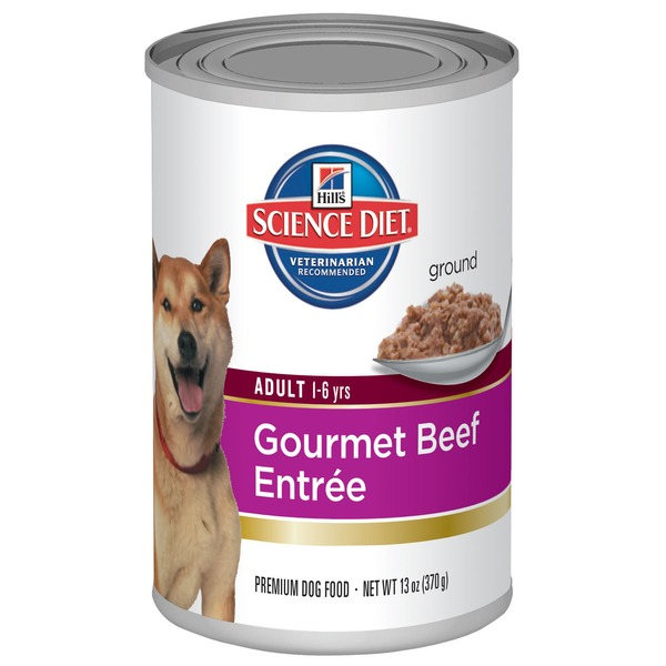 Hill's Science Diet Ground Adult 1-6 Yrs Gourmet Beef Entree Premium Dog Food