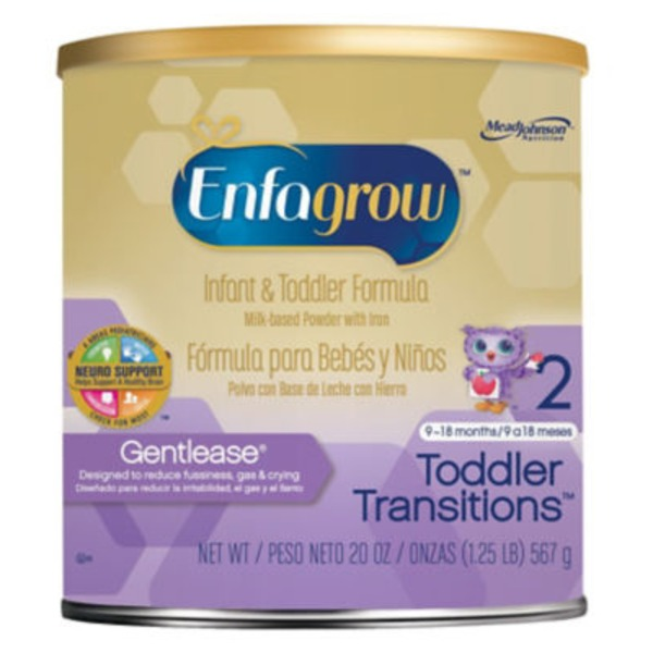 Enfagrow Toddler Transitions Gentlease Infant & Toddler Formula