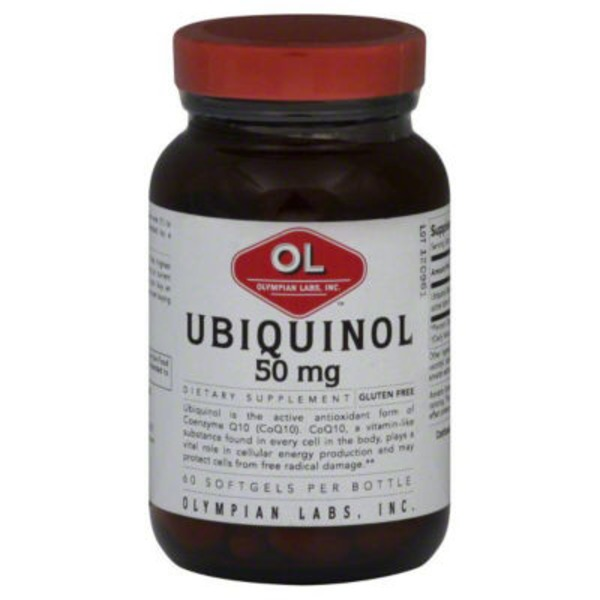 Olympian Labs Ubiquinol, 50 mg, Softgels