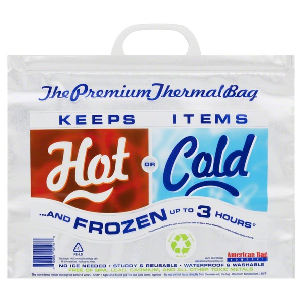 American Bag Company Thermal Bag, Premium, Hot or Cold